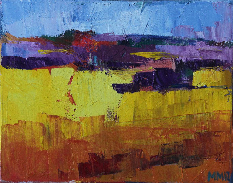 Rapsfeld, 2012, Öl auf Leinwand, 24 x 30 cm