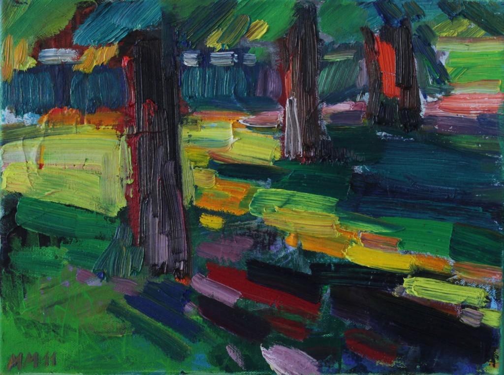 Sonne und Schatten, 2011, Öl auf Leinwand, 30 x 40 cm