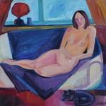 Mittagsruhe, 2011, Öl auf Leinwand, 50 x 50 cm