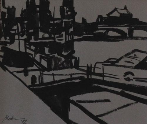 Mednikova - Dampfer, 2012, Tusche auf Papier, 19 x 27 cm