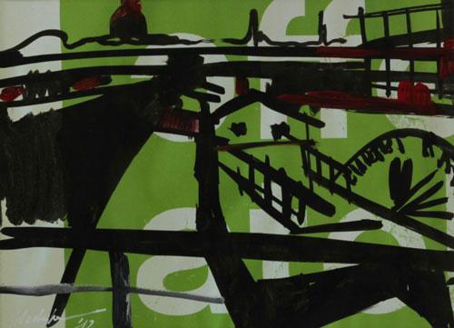 Mednikova - Dampfer am Terrassenufer I, 2012, Tusche auf Papier, 19 x 27 cm