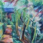 Mednikova - Magnolien im Frühling, 2008, Pastell auf Papier, 57 x 40 cm