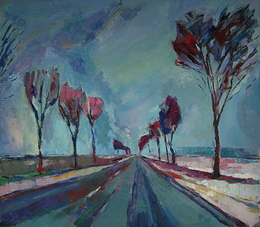 Der Weg, 2013, Öl auf Leinwand, 140 x 160 cm