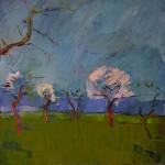 Frühlingserwachen, 2014, Öl auf Leinwand, 80 x 80 cm