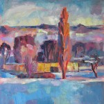 Morgenrot I, 2012, Öl auf Leinwand, 80 x 80 cm