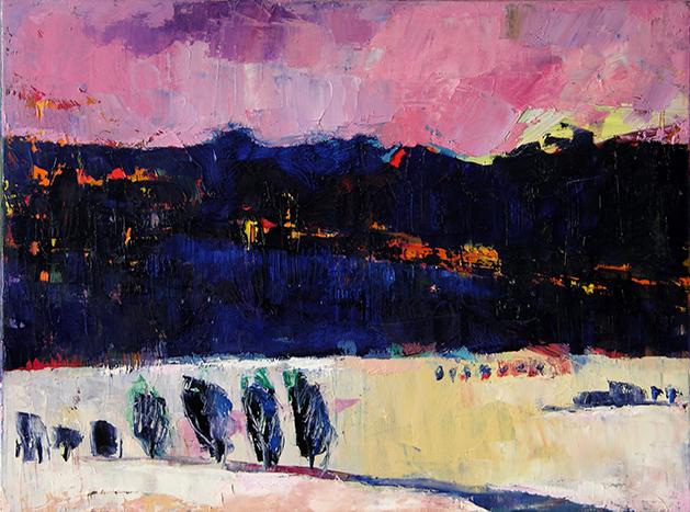 Winterdämmerung, 2014, Öl auf Leinwand, 60 x 80 cm